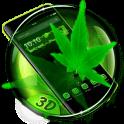 Hoja de arce verde 3D