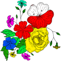 Adult Color by Number Book - Paint Flowers Pages