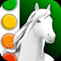 Horse Coloring Book 3D