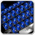 Black Blue Keyboard Theme
