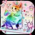 Colorful Unicorn Cat keyboard