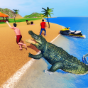 Angry Crocodile Family Simulator