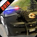 Polizei-Auto Shooting Krieg