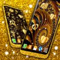 Golden Wallpaper Fancy Shine Luxurious Theme