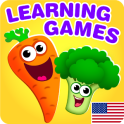 FUNNY FOOD 2! Educational Games for Kids Toddlers!