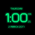 Neon digital clock free