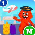 My Monster Town - Airport Games for Kids