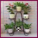 Iron Flower Pot Shelf