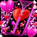 Heart zipper lock screen