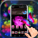 Pink Flower Launcher Theme
