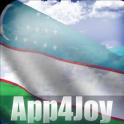 3D Uzbekistan Flag Live Wallpaper