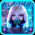 Cyber Punk Girl Tema de teclado