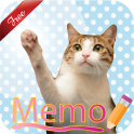 Cat Sticky Memo Notepad Free
