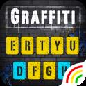 Yellow Graffiti Wall Keyboard Theme