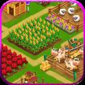 Día granja pueblo agrícola