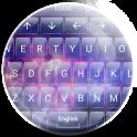 Keyboard Theme Glass Galaxy