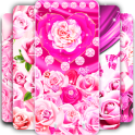 Pink rose silk live wallpaper