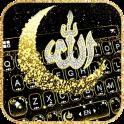 Glitter Allah Tema de teclado