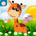 Farm animals for toddler Babies card Animal sounds