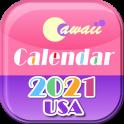US 2021 Cawaii Calendar ❤️Free❤️