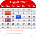 Canada Calendar 2020