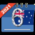 Calendar 2021 with Public Holidays in Australia