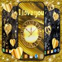 Gold Hearts 4K Wallpaper Golden live Wallpaper