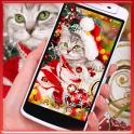 merry Christmas cat cute theme