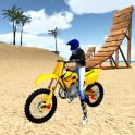 모터 크로스 바닷가 점프 3D