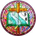 Stained Glass Color by Number - Adult Paint Book