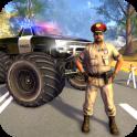 Police Monster Truck Gangster Car Chase