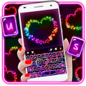Colorful Hearts Tema de teclado