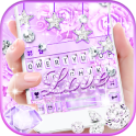 Purple Diamond Love Tema de teclado