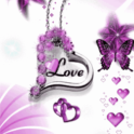 Purple Butterfly Love Live Wal