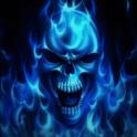 Blue Skull Live Wallpaper