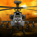 Combat helicopter 3D flight