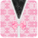 White Pink Lace Bow Go Locker
