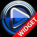 Poweramp widgetpack Blue Glas