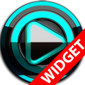Poweramp widget BLACK Turquois