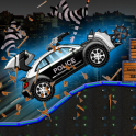 경찰은 자동차를 분쇄 - 실행 무법자
