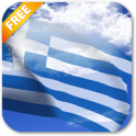 3D Greece Flag Live Wallpaper