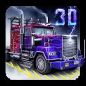 トラック駐車ゲームの3D