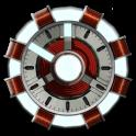 Arc Reactor Clock Widget