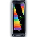 Gear Fit Color Bar Clock