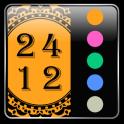 24/12 Oriental Gear Fit Clock