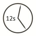 Uhrzeit mit Sekundenanzeige