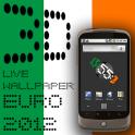 3D Clock IRELAND FLAG LWP