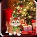 Winter Kitty Live Wallpaper