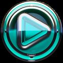 Poweramp skin Turquoise Glas
