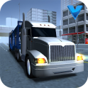 Big car transport truck 3D